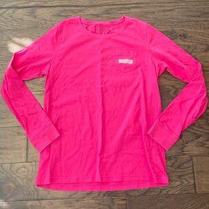 Medium Vineyard Vines Pink Long Sleeve T-Shirt
